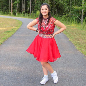 2pc. Size 8 Formal Homecoming/Prom Dress